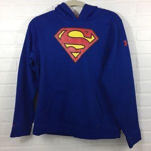 YXL Under Armour Superman Hoodie